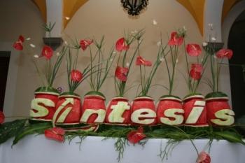 El evento estuvo adornado con exóticos arreglos frutales.  -  - Puebla