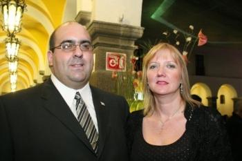 Fernando Bartaburú y Margarita Streich.  -  - Puebla