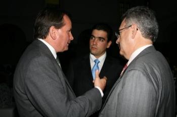 José Antonio López Malo, Armando Prida Noriega y Juan José Rodríguez Posada.  -  - Puebla